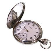 1902 Keyless Silver Waltham Hunter Pocket Watch
