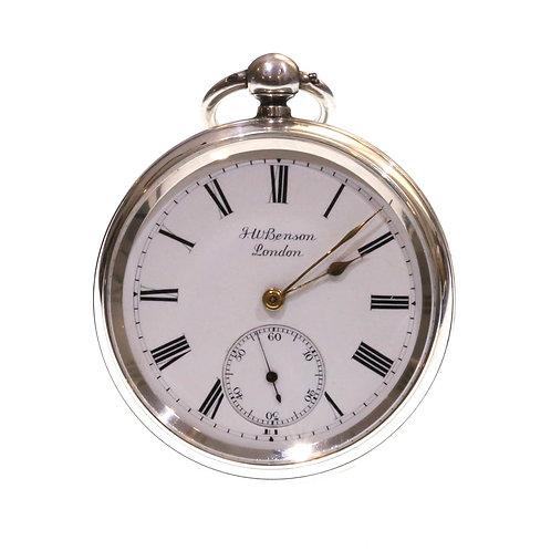 1885 J.W. Benson Pocket Watch Going Barrel Lever