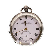 1919 Silver Going Barrel Lever Pocket Watch