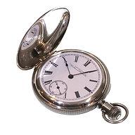 1894 Keyless Coin Silver Waltham Hunter Pocket Watch