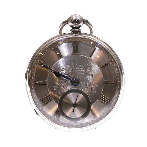 1875 Open Face Silver Fusee Lever Pocket Watch