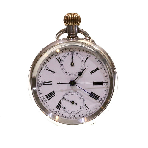 C1900 Complicated Swiss Chronograph Pocket Watch
