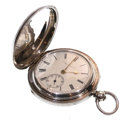 1894 Full Hunter Pocket Watch Silver Fusee Lever