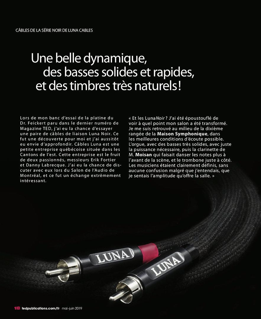 TED Magazine Câbles Luna Noir