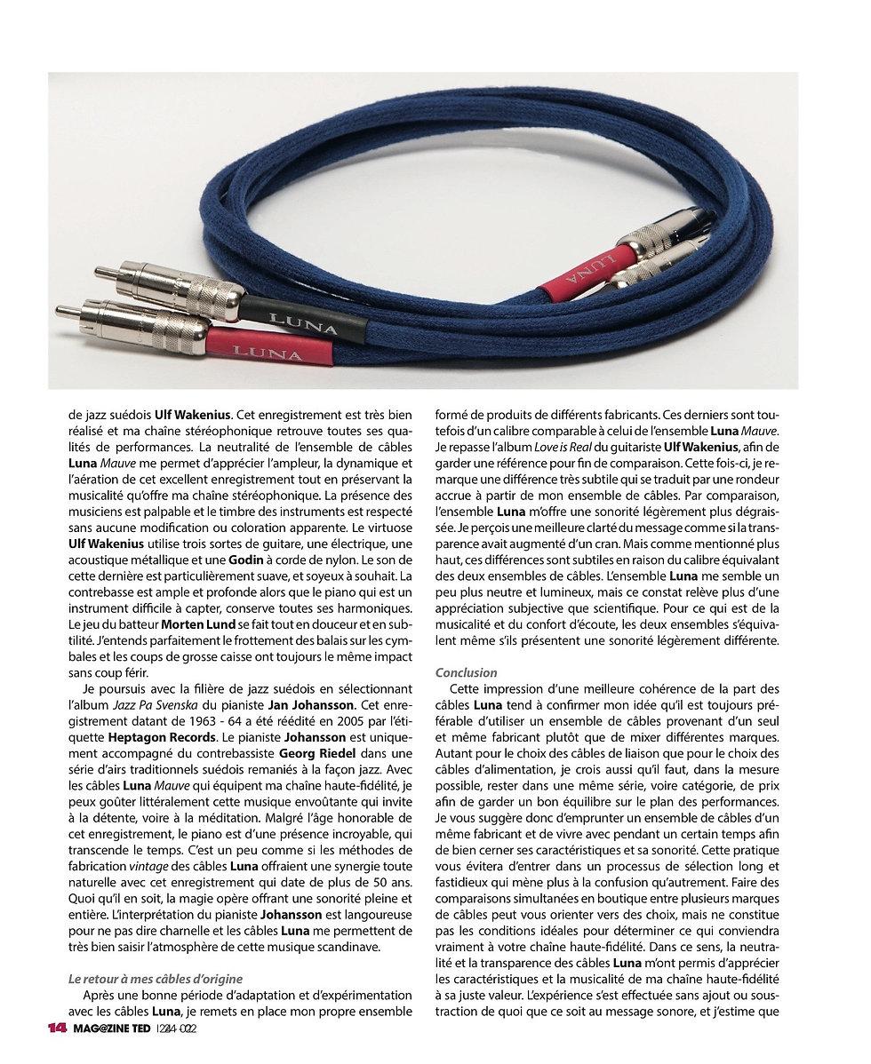 TED Magazine Luna Cables Noir