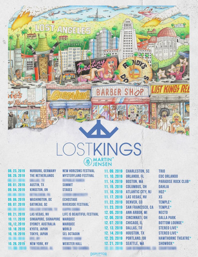 Lost Kings- Lost Angeles Tour Poster