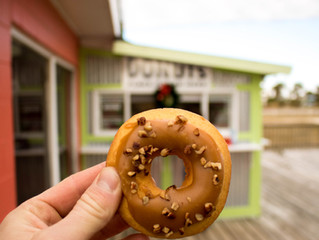 Yummm...Donuts!  Weber's Little Donut Shop