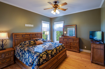 The large master bedroom has plenty of room