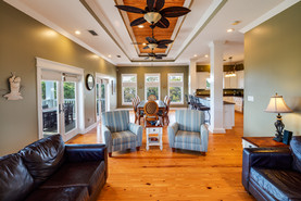 The tray ceilings really add to the beauty of the living and dining areas