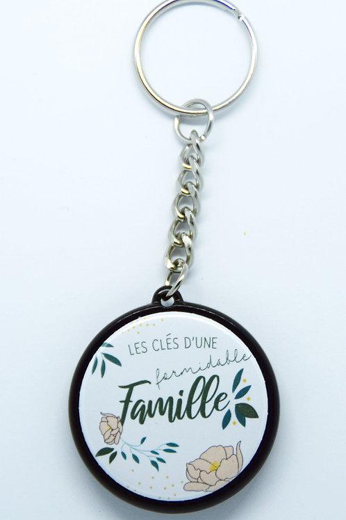 Porte clé Famille formidable