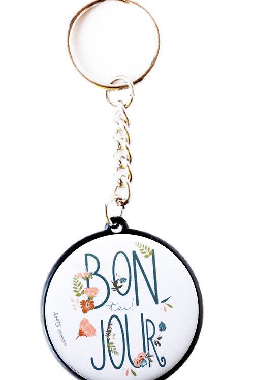 Porte clés Bonjour