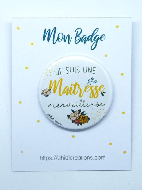 Badge Maitresse merveilleuse 2