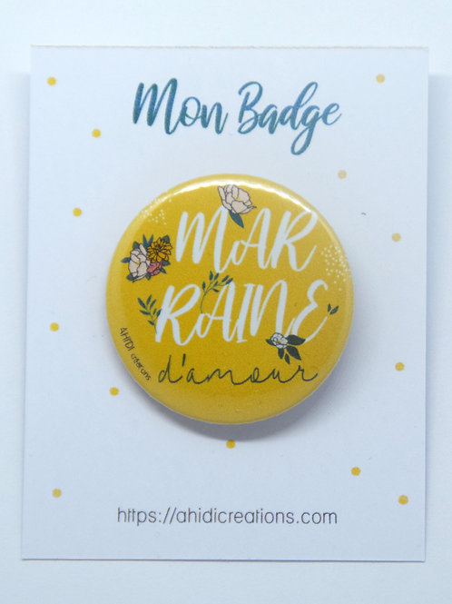 Badge Marraine d' amour