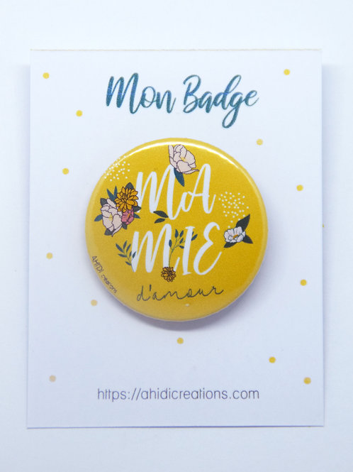 Badge Mamie d'amour