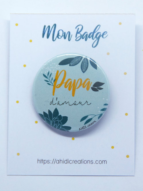 Badge Papa d' amour