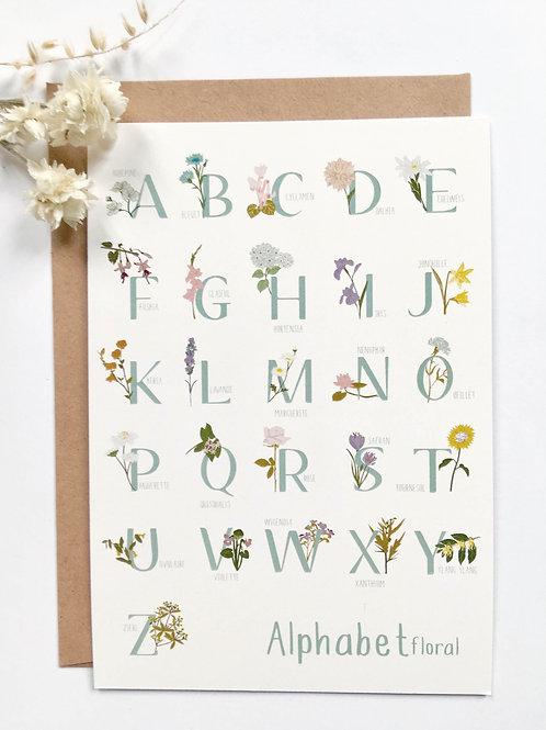 Carte postale ABC Fleurs
