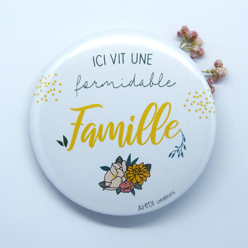 Aimant (58mm) «Famille formidable»