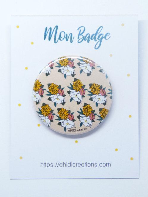 Badge Fleurs all over