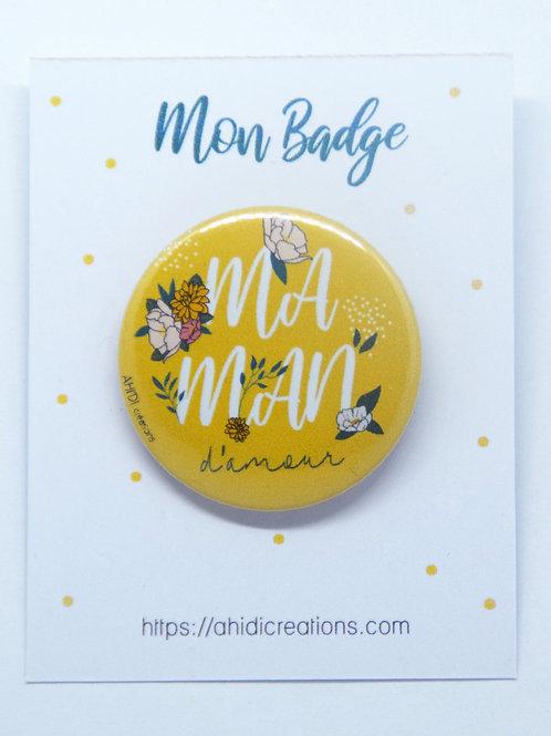 Badge Maman d'amour