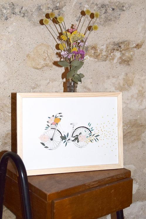 Illustration «Vélo en fleurs»