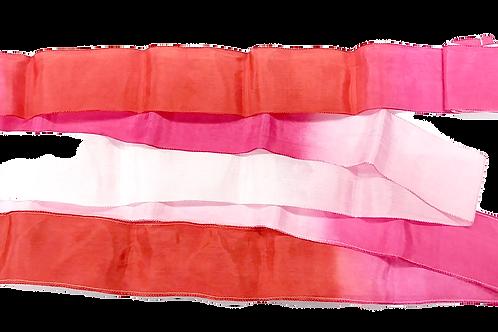 Italy Ribbon -漸變色 (紅色, 粉紅色, 白色)