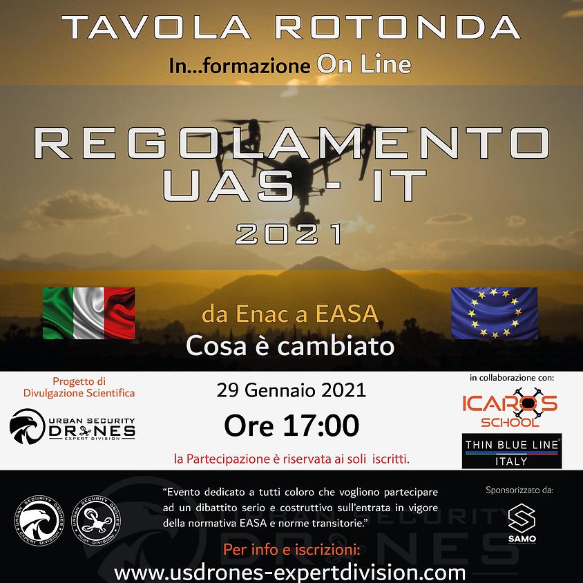 TAVOLA ROTONDA - REGOLAMENTO UAS - IT 2021