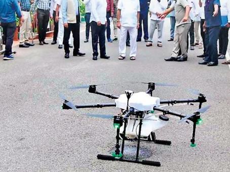 DRONI PER SANIFICARE ALCUNI PAESI DELL'INDIA