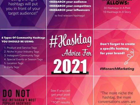 Hashtag Advice For 2021