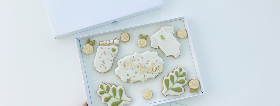 Baby Shower Cookie Box