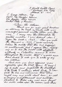 Letter from Norman MacKenzie, page 1