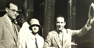 George & Bee Ullman see Rudolph Valentino off on another cross country trek.