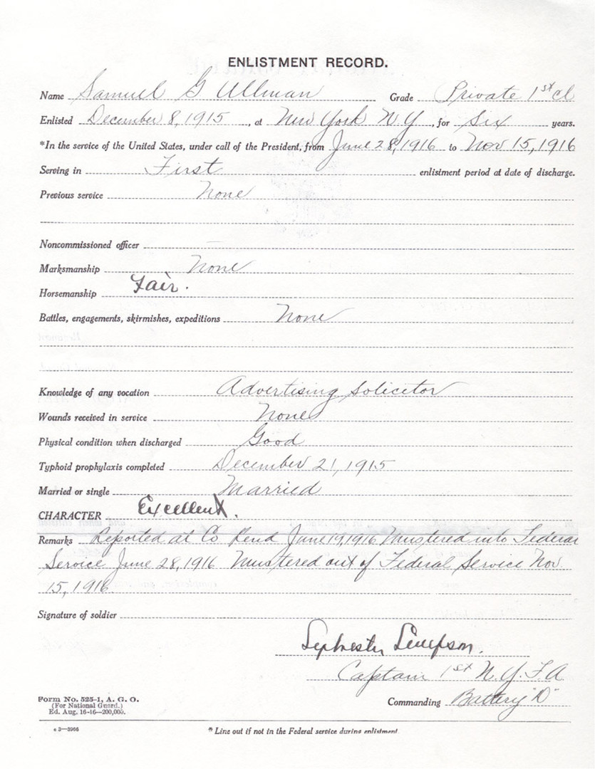 George Ullman's National Guard Registry, page 2