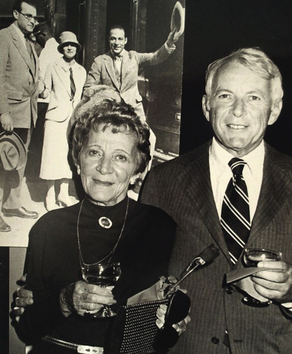 Bee Ullman with her son Bob at the opening of The Four Horsemen of the Apocalypse.