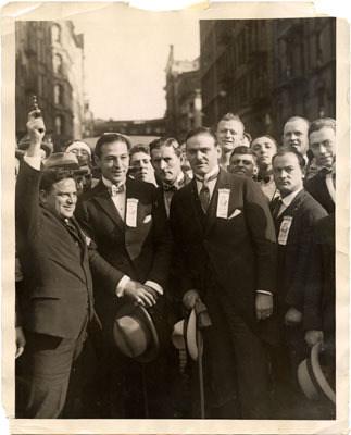 Frank Mennillo on Valentino's left with Fiorello LaGuardia