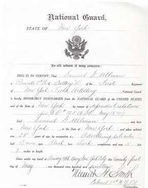 George Ullman's National Guard Registry, page 1