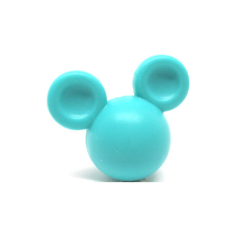 Perle Grand Mickey 3D Silicone Turquoise