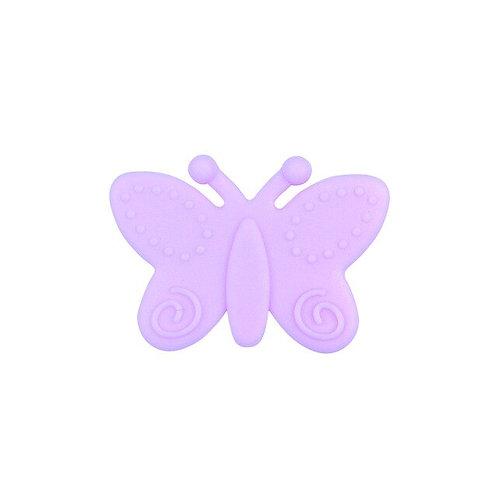 Perle Papillon Silicone Mauve