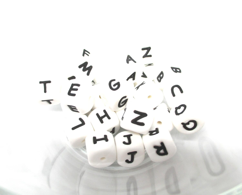 Perles alphabet silicone pour bébé