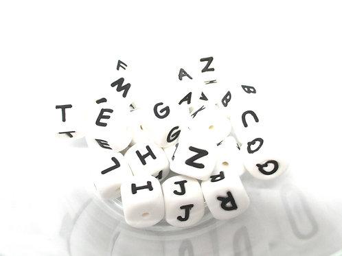 Lot de 26 Perles Alphabet Silicone