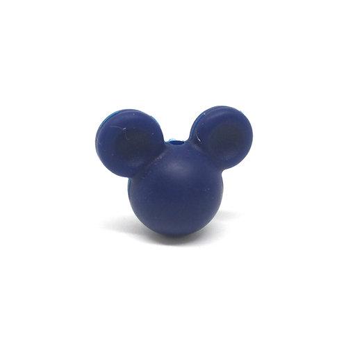 Perle Petit Mickey 3D Silicone Marine