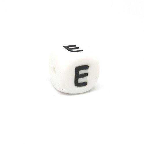 Perle Alphabet Silicone - Lettre E