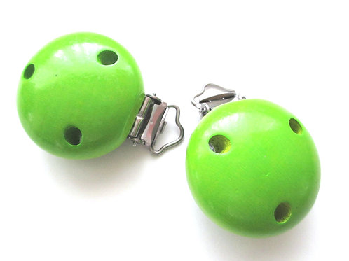 Clip en Bois Vert Pomme