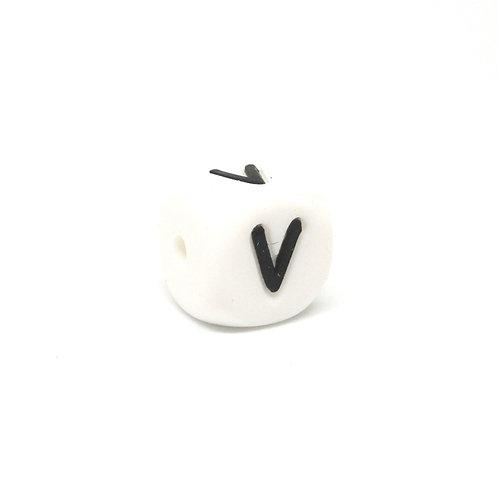 Perle Alphabet Silicone - Lettre V
