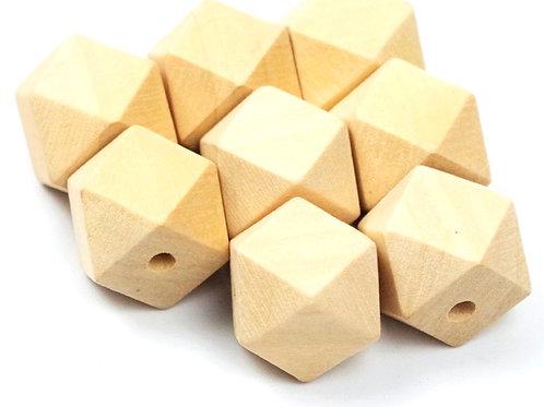 perle bois hexagonale naturel