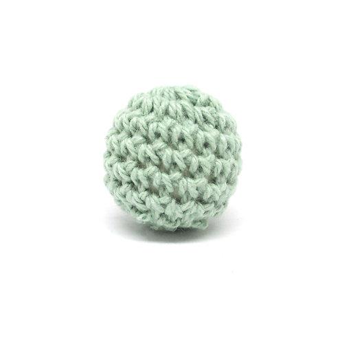 Perle en Bois et Crochet 20mm Vert Tendre