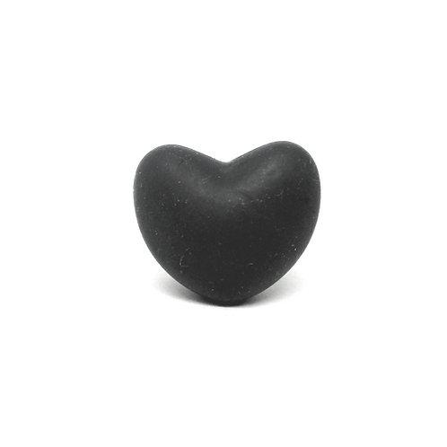 Perle Coeur Silicone Noir