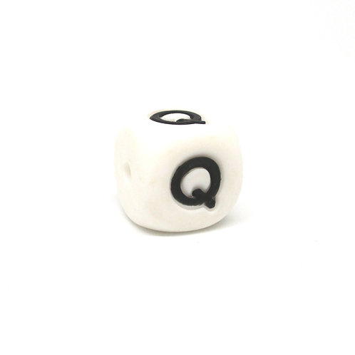 Perle Alphabet Silicone - Lettre Q