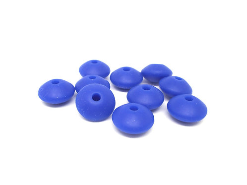 10 Perles Plates Silicone Navy