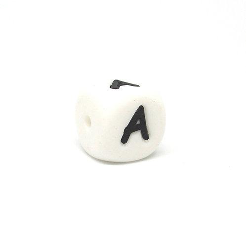 Perle Alphabet Silicone - Lettre A