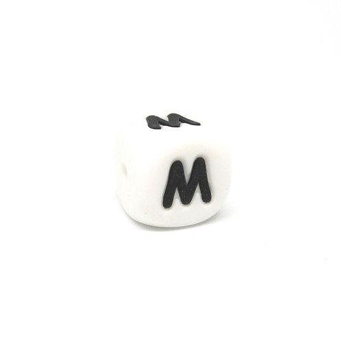 Perle Alphabet Silicone - Lettre M